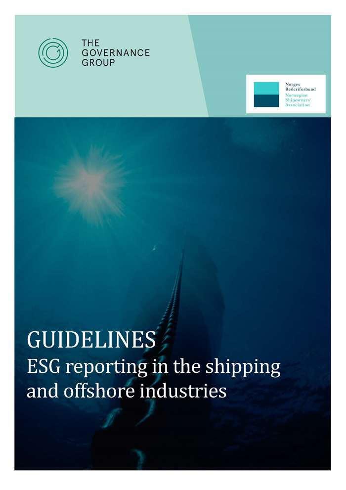 Cover of the NSAs ESG guidelines